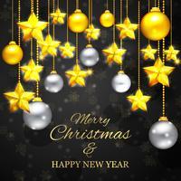Natal feliz ano novo fundo vetor