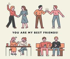 você é meu melhor amigo banner vetor