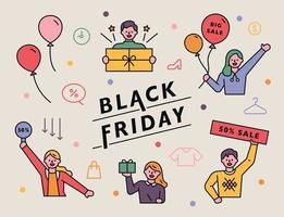banner de promoção sexta-feira negra vetor