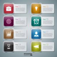 Elementos de Design do ícone Infográfico Banner vetor