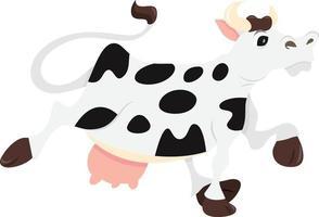 desenho animado vaca leiteira voando vetor