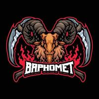 personagem mascote baphomet vetor