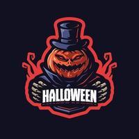 personagem mascote da abóbora de halloween