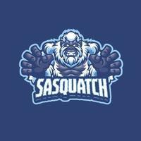 personagem mascote do sasquatch vetor