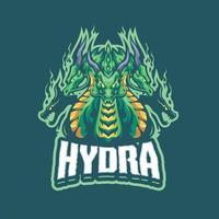 personagem mascote da hidra vetor