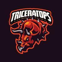 personagem mascote triceratops vetor