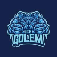 personagem mascote do golem de gelo vetor