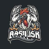 personagem mascote do basilisco vetor