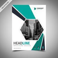 Brochura de negócios verde
