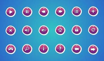 conjunto de botões de interface do usuário, elemento de design do jogo vetor