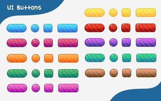 conjunto de botões de diferentes formas vetor