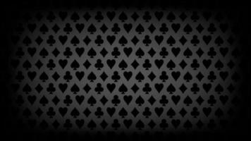 fundo de símbolos de cartão de pôquer preto de luxo, ilustração vetorial vetor