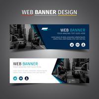 Banner de negócios elegante azul vetor