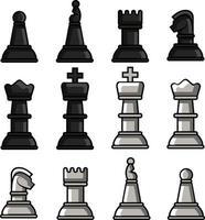 conjunto de xadrez perfeito para projeto de design vetor