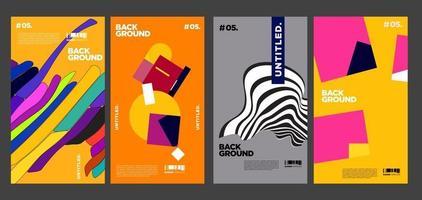 Projeto de layout de colagem colorida de vetor para capa de revista