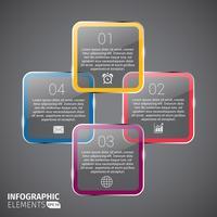Gráficos de diagrama de ciclo brilhante Gráficos de infográficos vetor