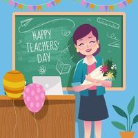 conceito do dia do professor feliz vetor