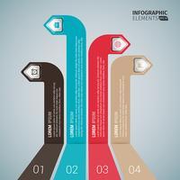 Seta de negócios de canto vertical infográfico vetor