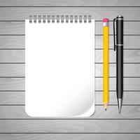 Caneta e lápis para anotações vetor