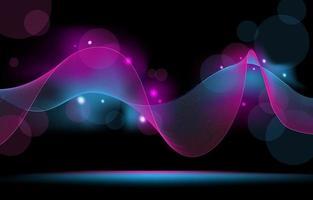 fundo de luzes de néon com brilho suave vetor