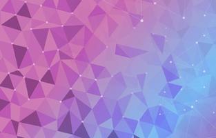 fundo geométrico rosa suave e azul vetor