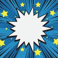 fundo de meio-tom cômico com estrelas ao redor vetor