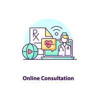 ícone de conceito de interface do usuário criativa de consulta online