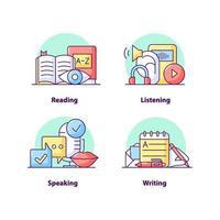 conjunto de ícones de conceito de interface do usuário criativo