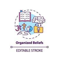 ícone do conceito de crenças organizadas