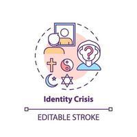 ícone do conceito de crise de identidade