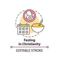 ícone do conceito de jejum no cristianismo vetor