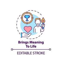 traz significado ao ícone do conceito de vida