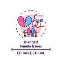 ícone do conceito de questões familiares combinadas