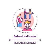 ícone do conceito de problemas comportamentais vetor
