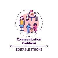 ícone de conceito de problemas de comunicação vetor