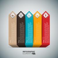 Apresentação Arrows Stairs Infographic vetor