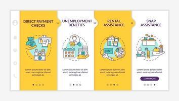 benefícios aprimorados de desemprego para trabalhadores desempregados modelo de vetor de integração