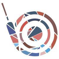 ícone do esporte plana de mosaico - dardos. moderno vetor