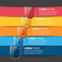 Modelo de design de infografia editável horizontal vetor