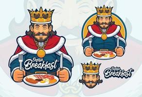 design de mascote de café da manhã inglês vetor