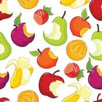 padrão sem emenda de frutas comidas pela metade