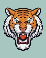 ilustração de cabeça de tigre vetor