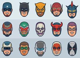 máscaras de super-heróis para super-heróis personalizados vetor