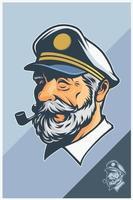 desenho de capitão mascote vetor