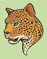 ilustração de cabeça de leopardo vetor
