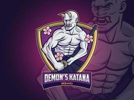 hannya demon esports logo design para seu time vetor