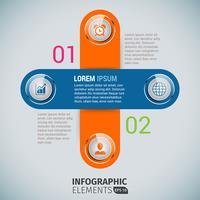 Modelo de infográficos de negócios cruzados vetor