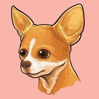 retrato de cachorro chihuahua vetor