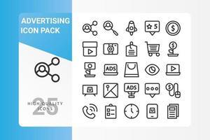 pacote de ícones de publicidade para o design de seu site, logotipo, aplicativo, interface do usuário vetor