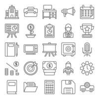 pacote de ícones do espaço de trabalho vetor